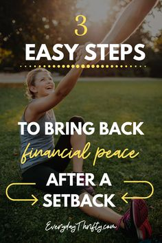 These practical steps will help you recover from a financial setback and get back on your feet with your money management.   #financialpeace #frugalliving #moneymindset