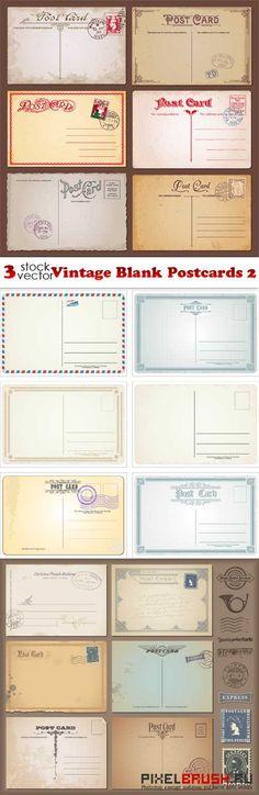 Vectors - #Vintage Blank #Postcards 2