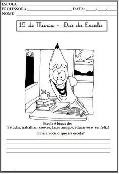dia-da-escola-imprimir - Atividades para Educação Infantil