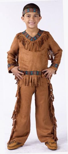 #native AMERICAN INDIAN Pouch Accessorio Wild West POCAHONTAS FANCY DRESS
