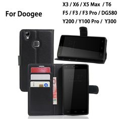 PU Wallet Leather Card Slot Flip Phone Cases For Doogee X5 Max Y100 pro T6 F5 F3 pro X3 X6 Y200 Y300 DG580 Back Cover Case #clothing,#shoes,#jewelry,#women,#men,#hats,#watches,#belts,#fashion,#style