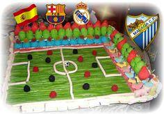 Tartas de Chuches en Málaga Servicio a Domicilio: Campo de Fútbol Tartas de Chuches en Málaga
