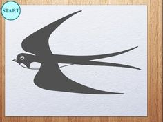 How to draw Swallow  / martlet