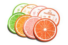 Citrus Cocktail Recipe Coasters by Love & Victory