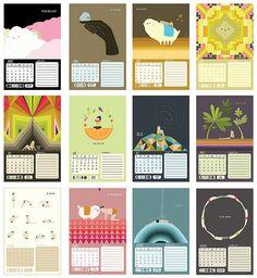 2014 calendar // monthly plans