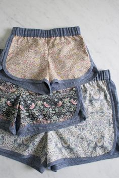 Perfection. I need to make these right now!    via CRAFT Magazine - Corinne's Thread: City Gym Shorts for All Ages - The Purl Bee