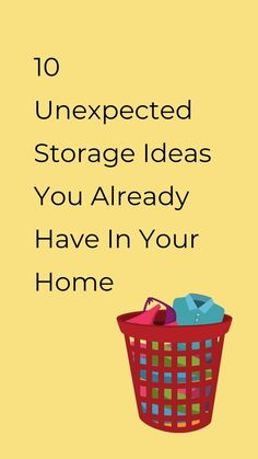 Cheap storage organization hacks for your home with items you already have. These quick organization tips will help keep your home more organized and clutter free. #hometalk Rolling Laundry Basket, Collapsible Laundry Basket, Plastic Laundry Basket, Cheap Storage, Storage Hacks, Organization Hacks, Storage Ideas, Organizing, Clever Diy