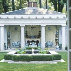 Outdoor Spaces, Outdoor Living, Courtyard Ideas, Guest Houses, Garden Fountains, Sunrooms, Pool Houses, Conservatory, Home Fashion