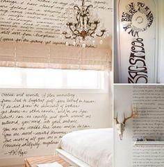 Escribir una frase en un muro es algo más que un elemento decorativo. Podemos reflejar la letra de una canción, de un poema o simplemente una frase que nos guste. Lo hacemos de forma artesanal plasmando en cada letra arte, arte que dejamos sobre los muros, muros que son nuestros lienzos.