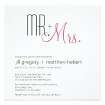 Custom Retro Modern Wedding Personalized Announcements created by dulceevents. This invitation design is available on many paper types and is completely custom printed. Retro Wedding Invitations, Save The Date Invitations, Wedding Invitation Templates, Custom Invitations, Invites, Invitations Online, Pink Invitations, Wedding Stationary, Affordable Wedding Venues