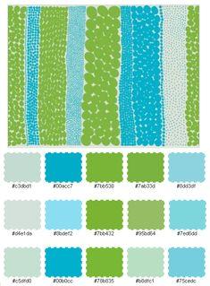 color palette - blues & greens