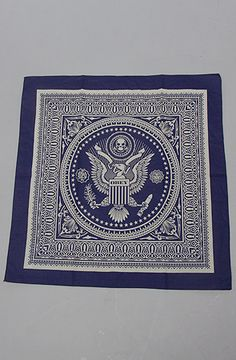 The Presidential Seal Bandana in Navy by Obey