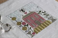 """Pattern is EEF """"Old Rose and Camomille"""""""