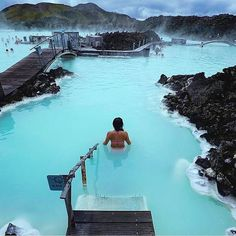 """Welcome to the extraordinary. Surrounded with amazing nature, the Blue Lagoon is an oasis of relaxation Blue Lagoon by @threeifbysea <a class=""""pintag"""" href=""""/explore/iceland/"""" title=""""#iceland explore Pinterest"""">#iceland</a>   Discover the most hidden places on our travel map!"""