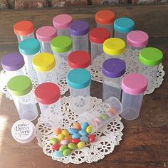 20 Plastic Tube JAR RX Container Event Pill Bottle Party Favor 3814 DecoJars USA #DecoJars