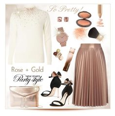 """""""So pretty: Rose Gold"""" by fashionlibra84 on Polyvore featuring MICHAEL Michael Kors, Dorothy Perkins, Eve Lom, Michael Kors, Carolee, Becca, Vintage, Sophia Webster and Urban Expressions"""