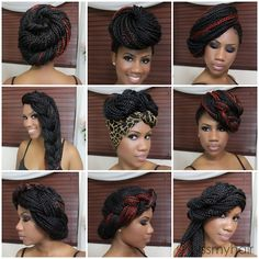 Styles for box braids Click here to see the tutorial!
