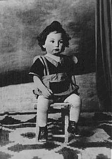 An 18-month-old Jewish boy, Chaim Leib, who was murdered at the Auschwitz extermination camp in Poland,1942.