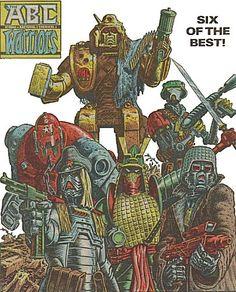 The ABC Warriors line-up that accompanied Nemesis the Warlock - Hammerstein, Joe Pineapples, Mongrol, Blackblood, Hitaki  Mad Ronn