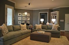 Modern Family Living Space in Grey - modern - family room - dallas - by Lilli Design