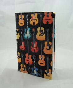 Acoustic Guitars Fabric Covered A6 2015 Hardback Diary - Free UK P&P £8.00