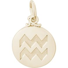 Aquarius Charm (Choose Metal) by Rembrandt ($30) ❤ liked on Polyvore featuring jewelry, pendants, rembrandt charms, charm jewelry, charm pendant, metal charms and metal jewelry
