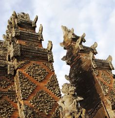 Welcome to Bali! Intricate carvings adorn the entrances to many of Bali's temples.