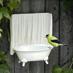 Bird bath wall hanging