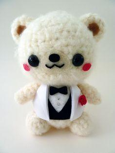 Wedding Bear Groom Amigurumi