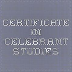 Certificate in Celebrant Studies