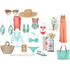 """Poolside"" by starlightcb on Polyvore www.coriburchell.com"