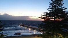 Glenelg beach at dusk