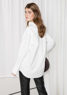 & Other Stories image 3 of Oversized Button Down Shirt in White