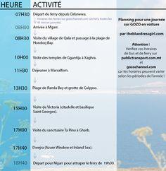 Que faire et que visiter à Gozo en une journée ? Découvrez trois plannings retraçant un itinéraire détaillé (avec lignes de bus) afin de ne rien manquer !
