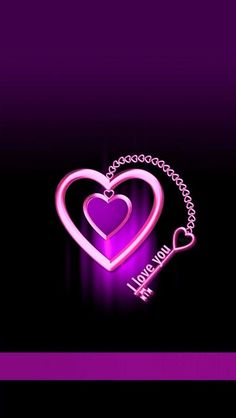 I Love You Images, Beautiful Love Pictures, Dj Images, Heart Pictures, Heart Images, Purple Love, All Things Purple, Purple Hearts, Black And Purple Wallpaper