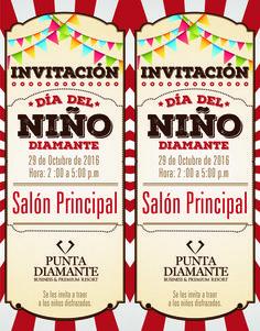 Diseño Cristian Medina  #CMEDINAP #Diseño #Impresión #Ambientación #Hotelpuntadiamante Arte fiesta de los Niños Invitación