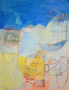 Lori Glavin Works on Paper oil on gessoed paper Take the Journey 50 x 38