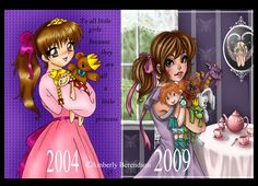 then and now by Harpyqueen on DeviantArt