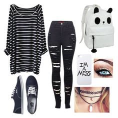 grunge by shirlove1999 on Polyvore featuring polyvore fashion style 2LUV Vans LAUREN MOSHI