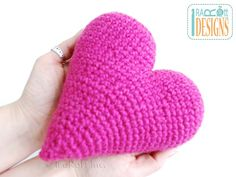 Free Crochet Pattern for Amigurumi Heart Stuffed Toy