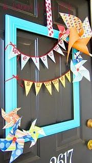 Easy Tutorial. I made a garland of these for a baby shower.