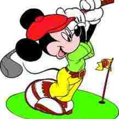 Repin this if you love golf.     Even mickey mouse plays golf.