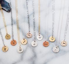Hey, I found this really awesome Etsy listing at https://www.etsy.com/listing/290459183/zodiac-charm-necklace-hand-stamped