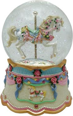 musical figurines -love this one with the carousel horse