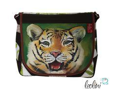 Umhängetaschen - Tiger Tasche Umhängetasche Messengerbag Malerei - ein Designerstück von leolini-taschen bei DaWanda