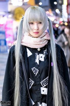 5343174a65d Harajuku Girl in Pastel Twintails w  Hoodie