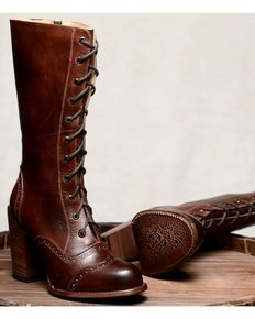 3c264025bcb3 Oak Tree Farm Ariana Teak Brown Boots - Round Toe