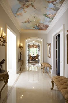 The hallway in one of the listings I sold in Holmby Hills and I still think it is one of the most beautiful and elegant.