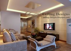 Modern pop ceiling designs for living room with white room divider ...