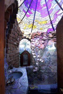 Ilian-Lael Foundation - the bathroom of the children's room. Designed by James Hubbell. I so need to see this for myself!